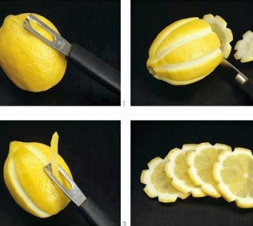 şekilli limon dilimleri