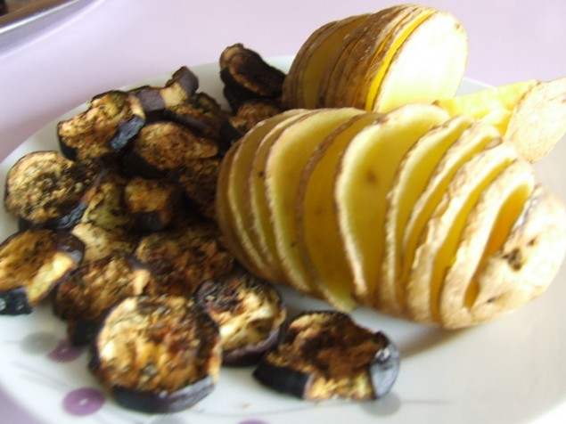 fırında patlıcan ve patates