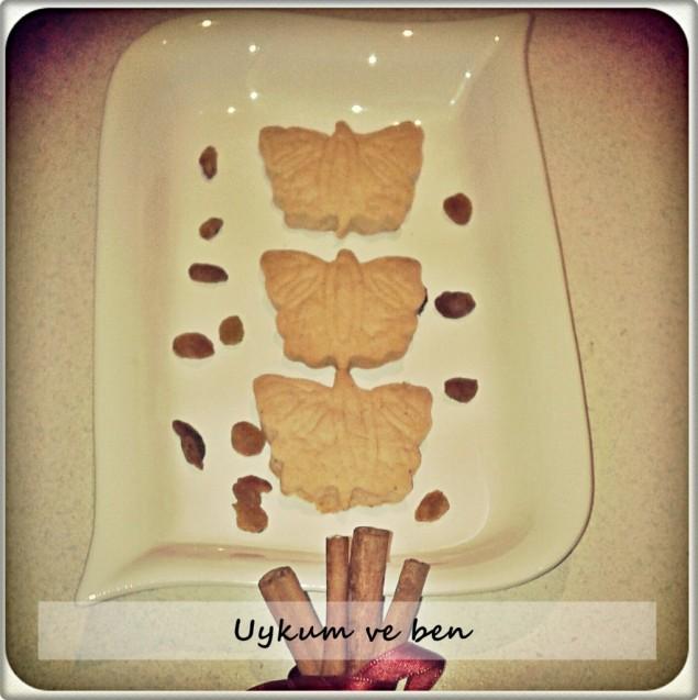 Tarçınlı üzümlü kurabiye