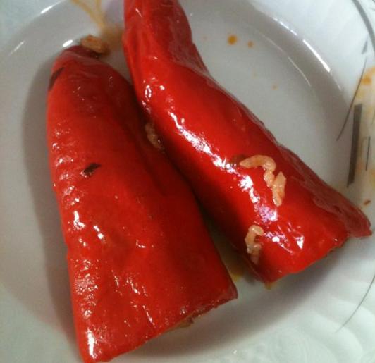 kırmızı biber dolması