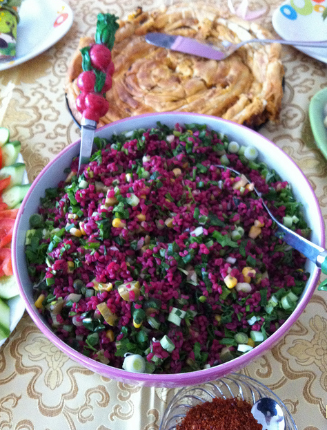 renkli bulgur salatası