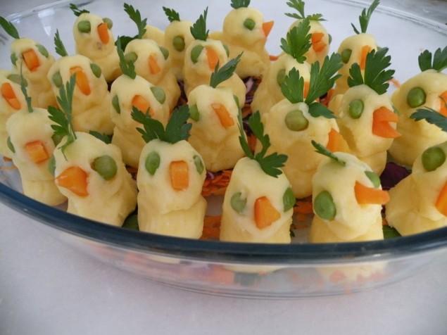 Civcivli patates püresi