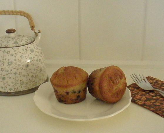 vişneli çikolatalı muffin