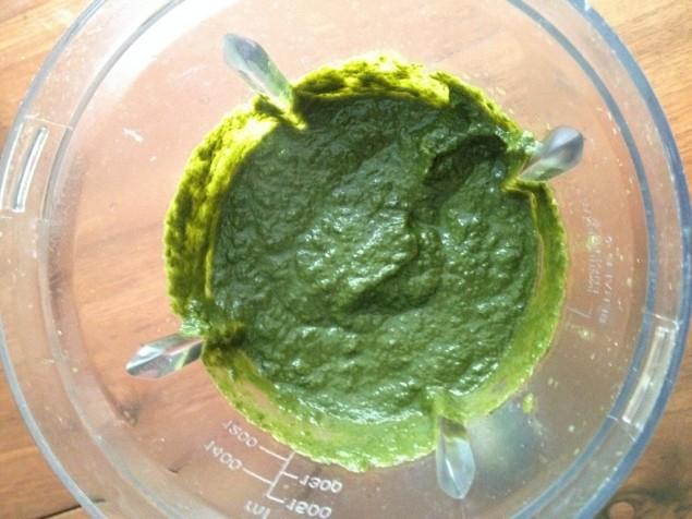 yeşil makarna